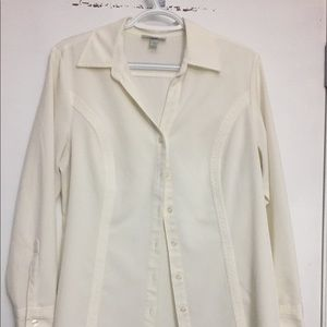 Neutral colored blouse